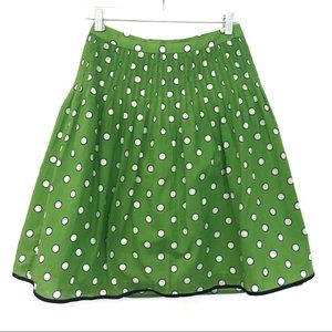 [J.CREW]Cotton Polka Dot Zipper Midi Skirt Size P2